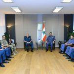 عثمان يستقبل رئيس المحكمة العسكرية شحادة